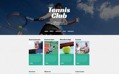 Responsive WordPress-thema voor tennis