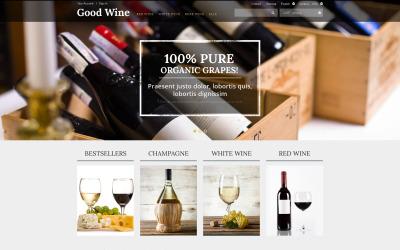 Tema PrestaShop di vino di qualità superiore