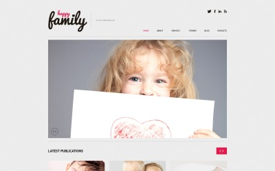 Thème WordPress réactif Family Center