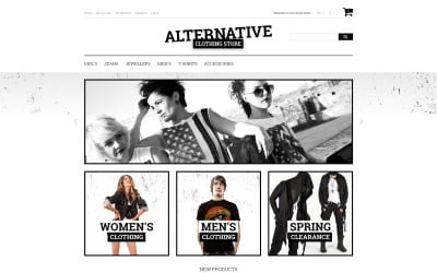 Alternative Fashion Magento Theme
