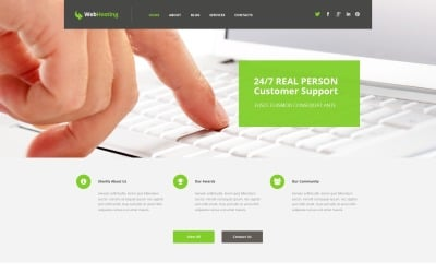 Hosting Responsive WordPress Theme