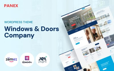 Panex - WordPress och tema för Windows och dörrar