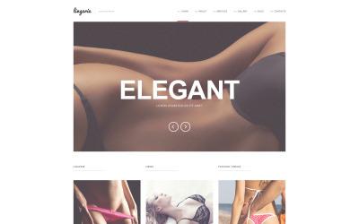 Raffinato tema WordPress di lingerie