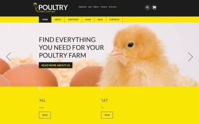 Suministros de granja avícola Tema WooCommerce