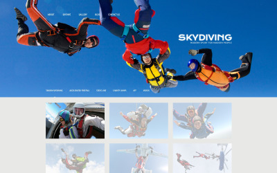 Skydiving Responsive WordPress Theme