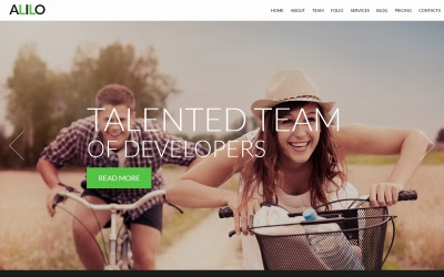 Alilo - webbdesign flersidig modern Joomla-mall