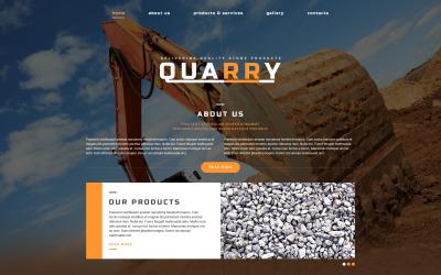 Plantilla de sitio web adaptable industrial