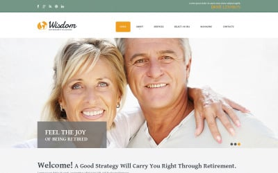 Retirement Planning Responsive Website Template