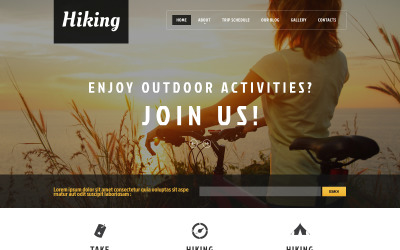 Hiking Club Promotion WordPress Theme