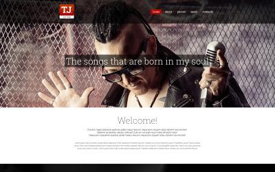Zene rajongói oldal Drupal sablon