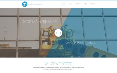 Tema de WordPress para reparación de puertas de Windows