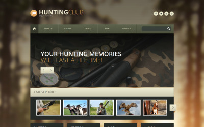 Tema WordPress adaptable a la caza