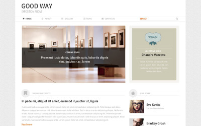 WordPress motiv Art Expo Room