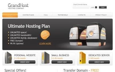 Безкоштовний хостинг Тема веб-сайту Шаблон веб-сайту