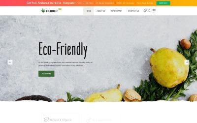 Kostenlose Website-Vorlage für die Lieferung von Lebensmitteln Website-Vorlage
