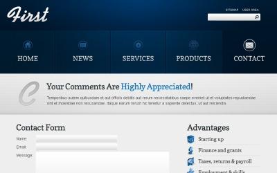 Plantilla de sitio web de tema gratuito para sitios de negocios