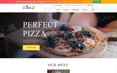 Gratis HTML5-thema voor websitesjabloon voor restaurantwebsites