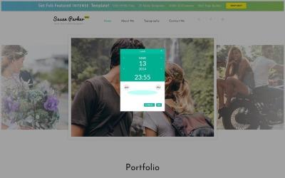 Gratis responsivt HTML5-tema för webbplatswebbmall