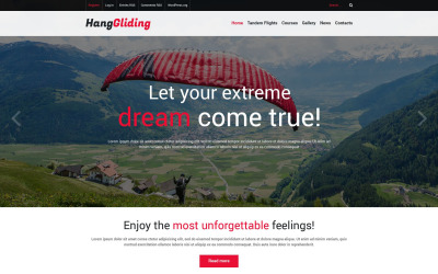 Tema WordPress adaptable para parapente