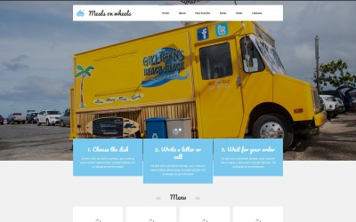 Home Food Delivery Joomla Template