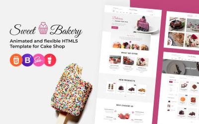 Sweet Bakery - Cake Shop Responsive Website Template