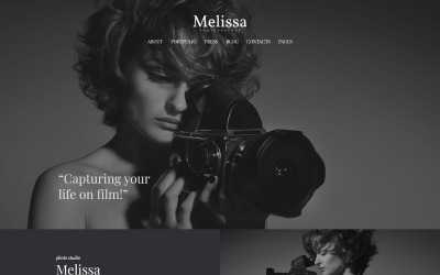 Melissa - Art & Photographie & Photographe Portfolio & Photo Studio Thème WordPress réactif