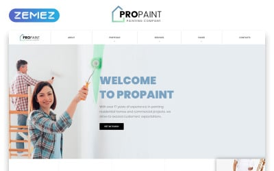 PROPAINT - Painting Company Multipage Creative HTML Website Template