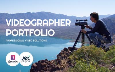 WordPress šablona Videographer Portfolio