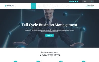 Globaly - Full Cycle Business Management & Consulting Responsive WordPress Theme