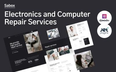 WordPress motiv Sabox - elektronika a opravy počítačů