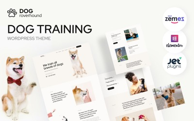 Dog Roverhound - Köpek Eğitimi WordPress Teması