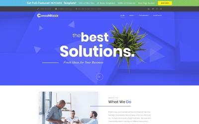 Kostenlose Responsive Corporate Template Website-Vorlage