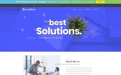 Plantilla de sitio web de plantilla corporativa receptiva gratuita