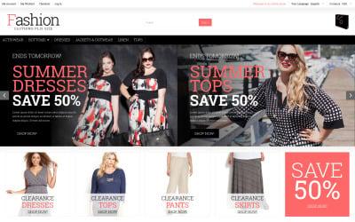 Plus Size Women Clothing Magento Theme