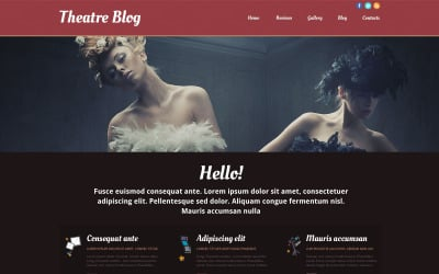 Theater Responsive Website Template
