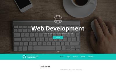 Vývoj webu a reklama - Šablona webových stránek reagující na vývoj webových aplikací