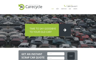 Car Scrap Yard Moto CMS HTML-mall