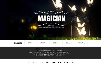 Magician Website Template