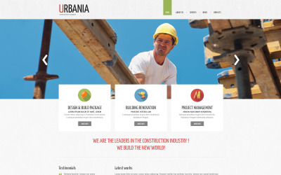Responsieve Drupal-sjabloon voor bouwbedrijf