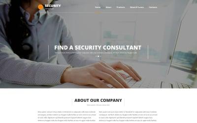 Security Responsive Website Template