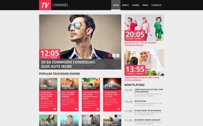 Szablon HTML Moto CMS kanału telewizyjnego