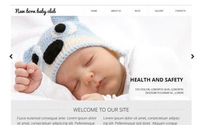 New Born Baby Club Website Template