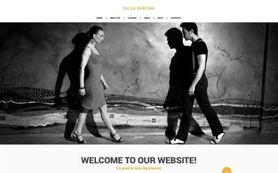 Salsa Club Website Template