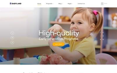 Babyland - Kids Center Multipage Clean HTML Website Template
