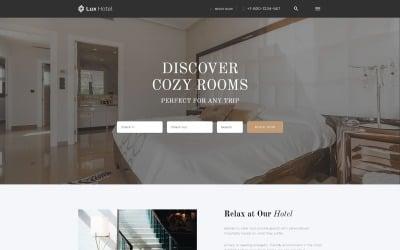 Lux Hotel - HTML5-webbplatsmall för hotell med flera sidor