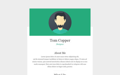 Personal Page Responsive Newsletter Template