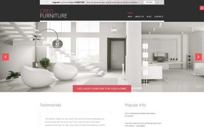 Интерьер и мебель Бесплатный шаблон Joomla