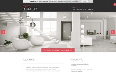 Plantilla Joomla gratuita para interiores y muebles
