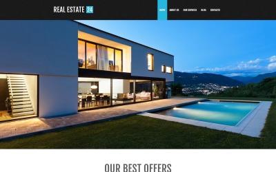 WordPress-tema för fastighetsmäklartjänster