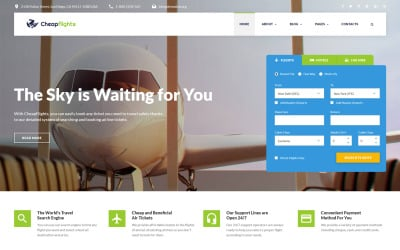 Flight Booking Website Template